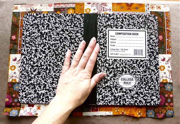 Tutorial: A super-simple way to cover a composition book | CraftyPod
