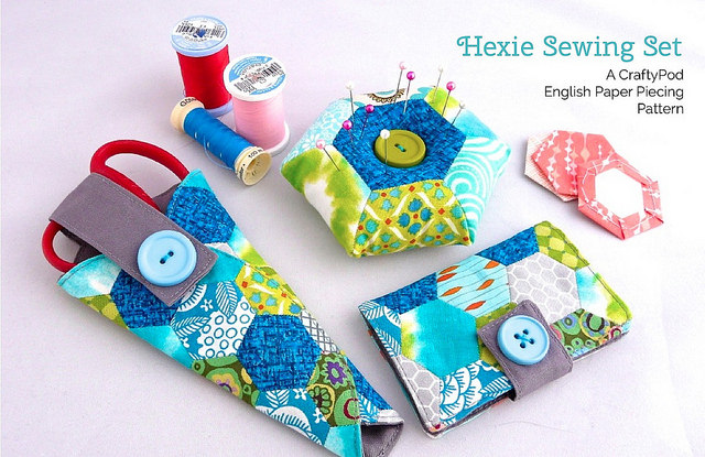 Hexie Sewing Set English Paper Piecing Pattern